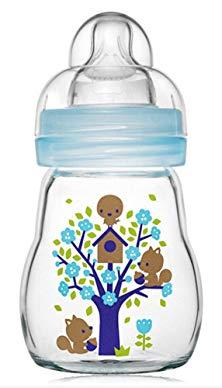 mam glass baby bottle wide neck 170ml blue review. Black Bedroom Furniture Sets. Home Design Ideas